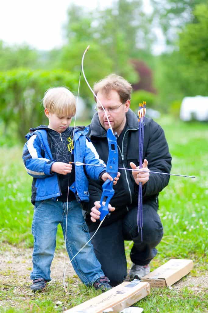 Bogenschießen mit Kindern