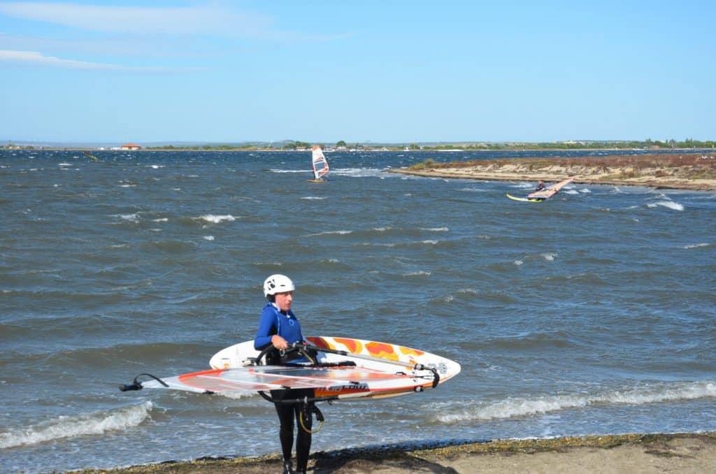Windsurfer in Leucate
