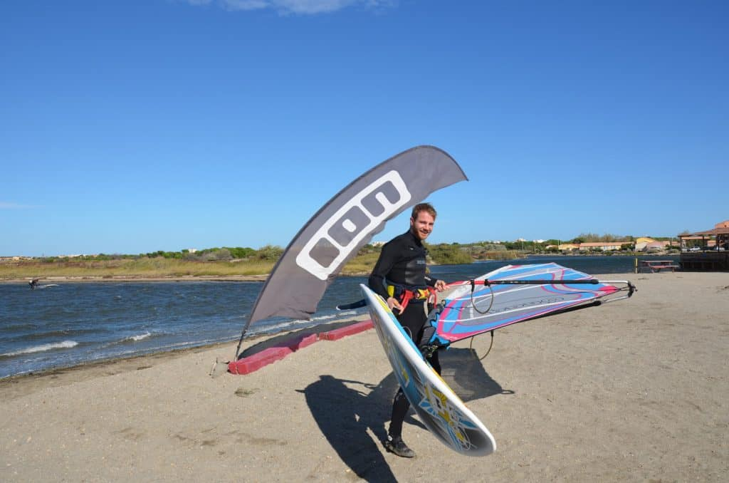 Sailloft Segel im Surfcamp
